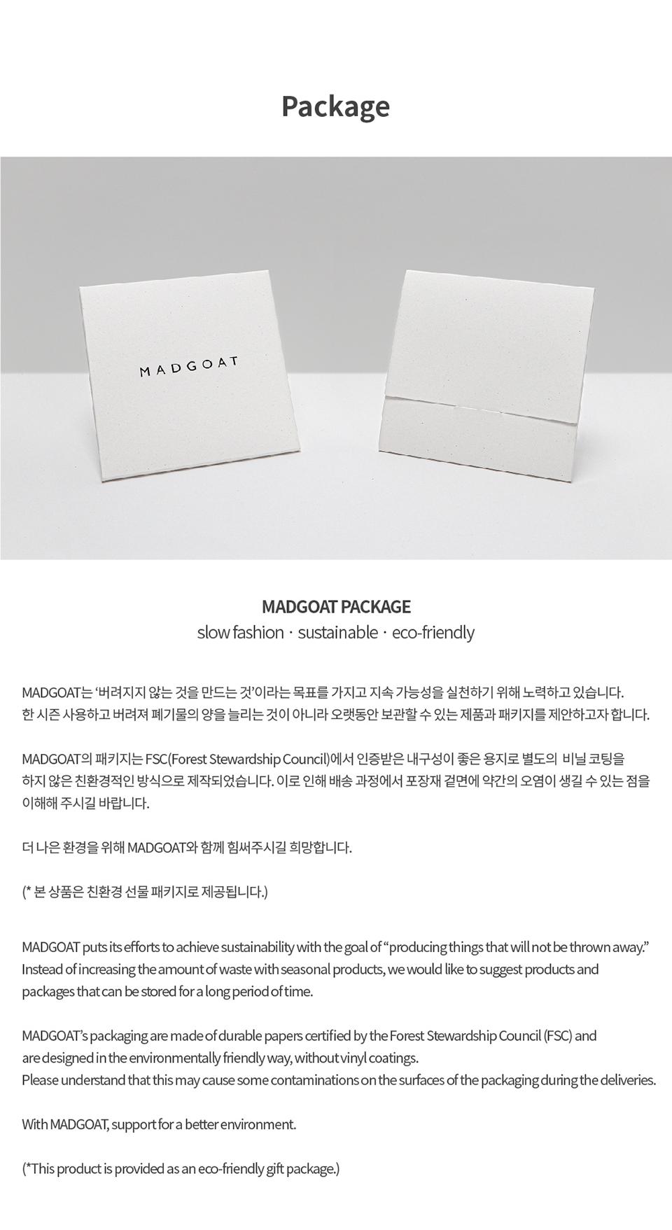 매드고트(MADGOAT) Square Scarf Monogram Stripe_Beige